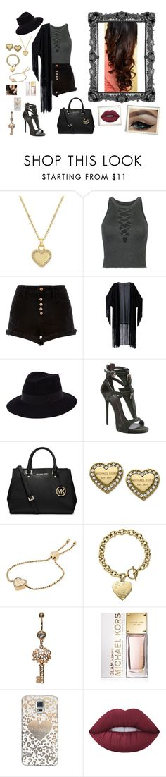 """""""Nr. 70"""" by deromymaus ❤ liked on Polyvore featuring Michael Kors, WithChic, River Island, Maison Michel, Giuseppe Zanotti, MICHAEL Michael Kors, Casetify and Lime Crime"""