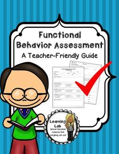 Make writing a Functional Behavior Assessment easy with this guide and template!   This product includes a teacher-friendly guide, data recording sheets, and a template to write an FBA. The FBA template comes in a Print & Write version and an Editable version.