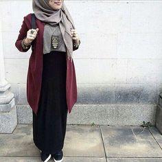 hijab, muslim, and skirt image