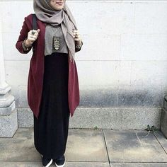 hijab, muslim, and skirt image