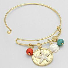 Bracelet Starfish 2 1/2 Inch Diameter Fashion Jewelry Jewelry Bracelets