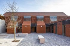Built by Proctor and Matthews in Essex, United Kingdom with date Images by Tim Crocker. Hargood Close is a supported housing development in Colchester. A contemporary interpretation of traditional almshous. Brick Architecture, Architecture Awards, Residential Architecture, Interior Architecture, Contemporary Architecture, Interior Design, Terraced House, Brick Masonry, Social Housing