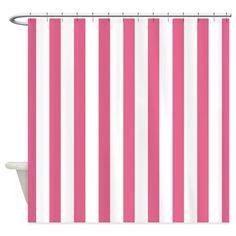 Summer Melon Stripe Shower Curtain