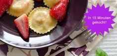 Pasta einmal anders! Ravioli mit Erdbeeren