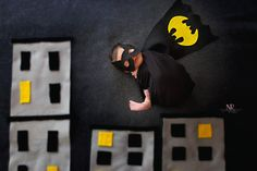 Newborn Photography session Batman Inspired Image NaturesRewardPhotography.com Baby Batgirl, Baby Batman, Newborn Pictures, Baby Pictures, Baby Photos, Batman Photoshoot, Super Hero Photography, Monthly Pictures, Foto Baby