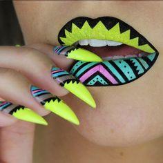 7 bouches artistiques par la maquilleuse Batalash Beauty #monvanityideal #maquillage #rougealevres #lipart #batalash Plus de conseils maquillage sur www.monvanityideal.com