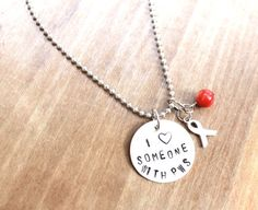 I Love Someone With PWS, Hand Stamped Jewelry, Necklace,  Aluminum, Prader Willi Syndrome on Etsy, $12.50