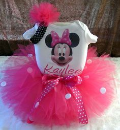 1ST BIRTHDAY MINNIE MOUSE TUTU OUTFIT DRESS ANY AGE! Love the TUTU