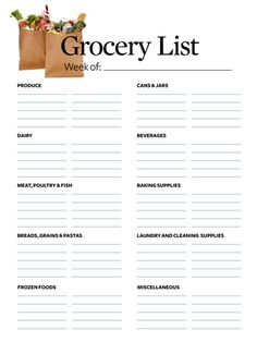 No more reading your grocery list multiple times while shopping. This list is divided in the same way a grocery store is. So, when you're in the dairy section of the market, just read the dairy section of the list and you'll get everything you need, without having to read your list over and over to make sure a dairy item isn't buried on the list after pet food.