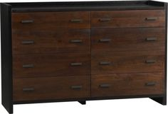 Forsyth 8-Drawer Dresser. Nice, but could it be too heavy and dark for our other dresser?