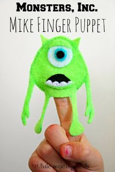 Awesome Monster Finger Puppet Tutorial - kids parties