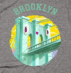 Happy Brooklyn Bridge - Men's T-Shirt - Thumbnail