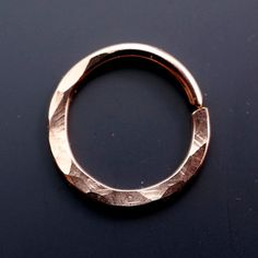 14mm SEPTUM RING - 16g earring -   hoop - endless - nipple ring  - nose - belly  - hammered No.00503 on Etsy, $13.40 CAD
