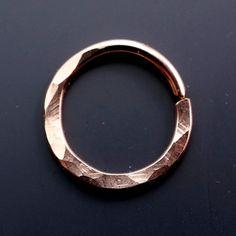 SEPTUM RING 16g Septum Hoop Nose Ring by CecileStewartJewelry