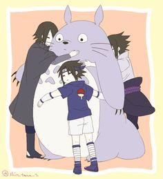 Unicos momentos q o Sasuke é fofo