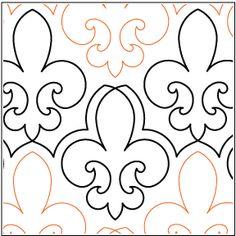 Fleur quilting pantograph pattern by Lorien Quilting Quilting Stencils, Longarm Quilting, Free Motion Quilting, Machine Quilting, Quilting Designs, Quilt Patterns, Sewing Patterns, All Paper, Stencil Painting