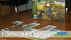 For when we find Castles of Mad King Ludwig a little too difficult to introduce to our non-gamer friends, Castles of Caladale fits the slot perfectly!