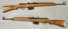 The Gewehr 43 or Karabiner 43 (abbreviated G43, K43, Gew 43, Kar 43) is a 7.92×57mm Mauser caliber semi-automatic rifle developed by Nazi Germany during World War II. It was a modification of the earlier G41(W), using an improved gas system similar to that of the Soviet Tokarev SVT-40.