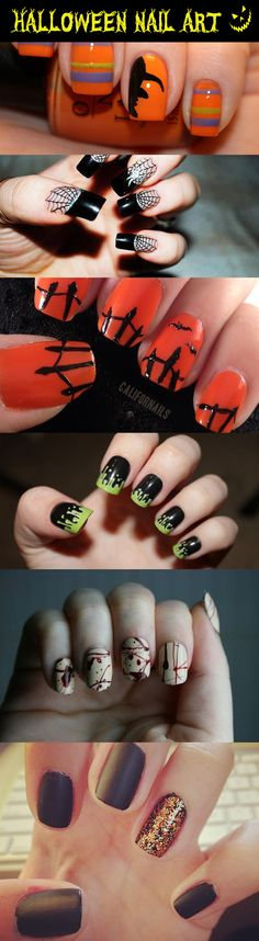 Halloween Nail Art - Halloween Nail Art - - Pin To Pin Get Nails, Fancy Nails, Love Nails, How To Do Nails, Pretty Nails, Hair And Nails, Pink Nails, Nail Art Halloween, Halloween Nail Designs
