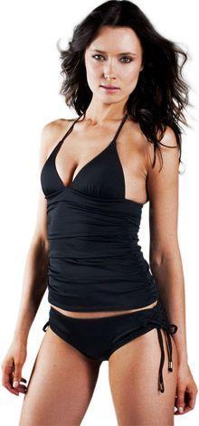 0acdae4e59 Extreme Push-up Shirred Tankini Padded Swimsuit @ LoveMyBubbles.com Black  Swimsuit, Swimsuit