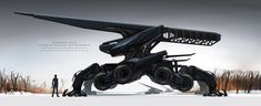 """""""Steamwraith"""" based on the """"Duplex"""" and an electric railbeast based on the Ce """"Crocodile. Sci Fi Weapons, Fantasy Weapons, Sci Fi Fantasy, Robot Concept Art, Weapon Concept Art, Robot Militar, Robot Animal, Art Painting Gallery, Future Soldier"""