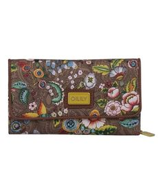 Love this Tobacco French Flowers Large Wallet by Oilily on #zulily! #zulilyfinds