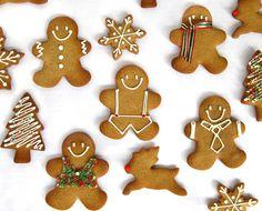 Gingerbread: 400g hladké mouky, 120g mouč.cukru, 60g másla, 2 vejce, 2 lžíce medu, citr.kůra, 2 lžičky koření do perníku