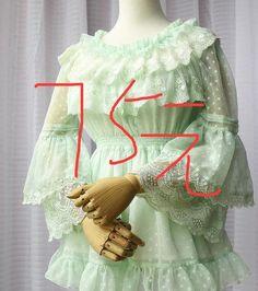 LOLITA洛丽塔洋装雪纺衫蕾丝喇叭袖袖姬中袖显瘦收腰大摆上衣