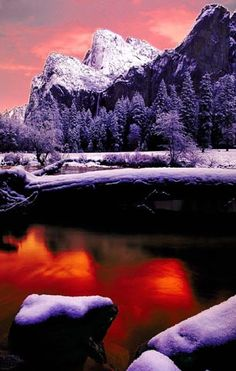 Merced River and Bridal Veil Falls, Yosemite National Park; photo by Steve Kossack