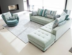 """Martin Daniel Interiors on Instagram: """"Mint green makes a fresh statement in your living room. What do you think of this sectional sofa? #martindanielinteriors . . . #homedecor…"""" Living Room Sectional, Sectional Sofa, Couch, Green Sofa, Furniture Making, Mint Green, Design, Home Decor, Fresh"""