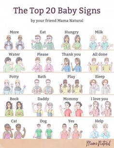 Teaching Baby Sign Language, Baby Sign Language Chart, Sign Language Words, Teaching Babies, Sign Language For Baby Toddlers, Simple Sign Language, Learn Sign Language, Alphabet In Sign Language, Thank You Sign Language