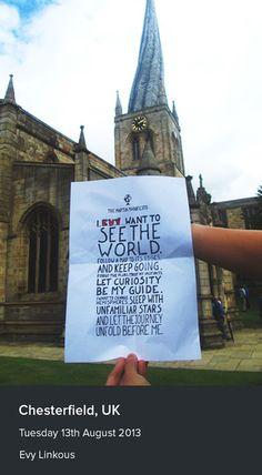 The manifesto in Chesterfield, UK.