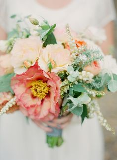Gorgeous whimsical bouquet by Poppies & Posies