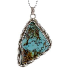 Bella & Chloe Navajo Braided Turquoise Pendant necklace....