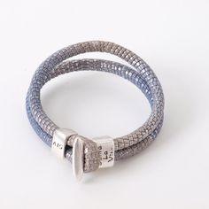 Senta la vita armband paars/grijs - WIDARO sieraden en accessoires