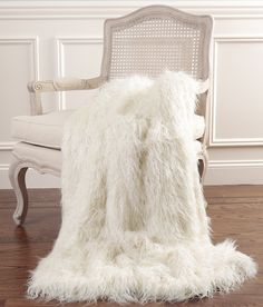 Mongolian Lamb Faux Fur Throw Blanket
