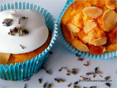 Apfel-Mandel-Cupcakes mit Lavendelsahne *