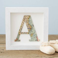 Letter cut from a map of an important location