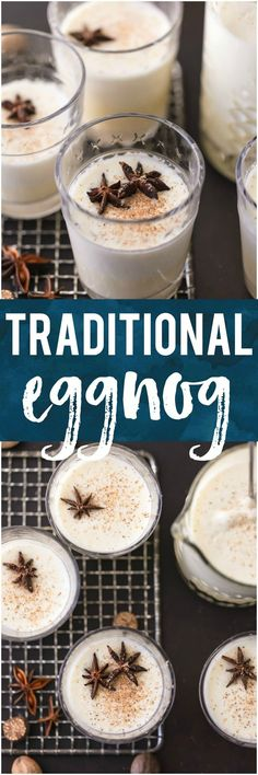 This TRADITIONAL EGGNOG is so much better than store bought! It's a creamy Christmas favorite that is a must make for the holidays. #christmas #eggnog #alcohol #rum #holidays #drinkrecipe via @beckygallhardin