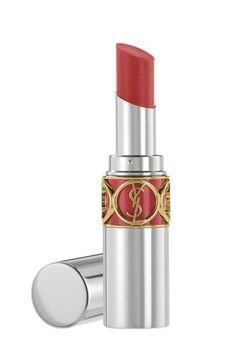 Yves Saint Laurent Volupté Sheer Candy in Luscious Cherry, $34 - A sheer wash of this luxurious balm and your lips instantly appear more sensual. Oh, and the smell happens to be divine, too. [The Best Sheer Reds For Bold-Lip Neophytes]