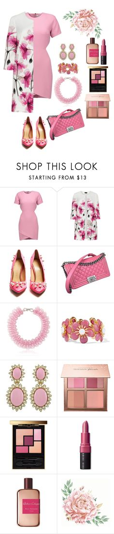 """""""Pink Love"""" by christinemusal ❤ liked on Polyvore featuring Elizabeth and James, Hermann Lange, Charlotte Olympia, Chanel, Mary Katrantzou, Ben-Amun, Ciner, Sephora Collection, Yves Saint Laurent and Bobbi Brown Cosmetics"""