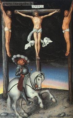 Lucas_Cranach – Crocifissione con la conversione del centurione