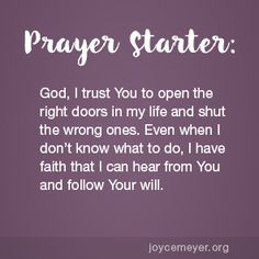 Daily Devo - God Opens and Shuts Doors Prayer For Discernment, Prayer Scriptures, Bible Prayers, Faith Prayer, My Prayer, Bible Verses Quotes, Faith Quotes, Joyce Meyer Quotes, Daily Scripture