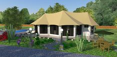 The Chinnar - versatile in its configuration this stunning tent is superbly suited as a permanent or semi-permanent setting for luxury resort accommodations or private estates looking for an elegant…
