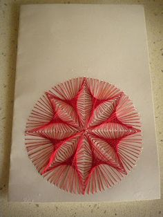 "String Art on paper - abstract design. ""La Bottega dei Capricci: Ricami su carta parte prima"""