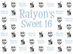 Raiyon's Sweet 16 Step Repeat Backdrop