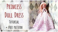 Princess Gown Dress for Monster High Doll with free pattern