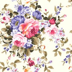 Emeline Multi wallpaper by Clarke & Clarke