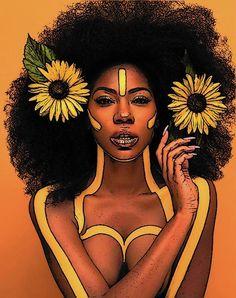 Black Art Painting, Black Artwork, Painting Of Girl, Black Love Art, Black Girl Art, Art Girl, Afro Art, African American Art, African Art