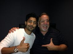 Manish Dayal and I chatting about The 100 Foot Journey!